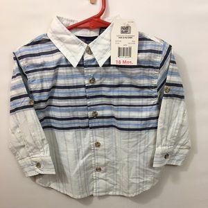 Faded Glory 18m button down shirt